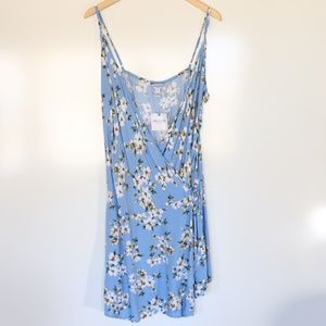 Arizona Floral Sleeveless Wrap Dress Plus Size 0X